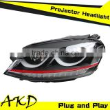 AKD Car Styling GOLF 7 LED Headlight 2013-2014 GOLF7 Headlights Volks Wagen MK7 Head Lamp Projector Bi Xenon Hid H7