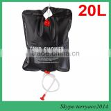 Outdoor Camping Solar Energy Heated Camp Shower Pipe Bag Portable 20L/5 gallon