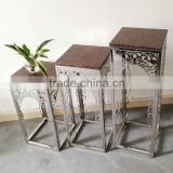 display antique square flower stand