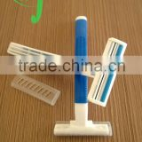 Promotion Best Selling Products safety razor head is hotel razor shaving set /hotel one time shave razor man