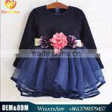 Foreign Trade Wholesale L130 Spring Style Girl Clothes New Style Three-dimensional Bubble Tulle Kids Dress Children Dress