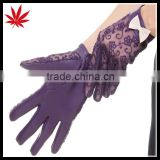 New style lace leather gloves prevent bask in summer sheepskin gloves with bowknot and uv protection