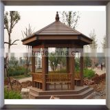 wooden outdoor playground/small wooden pavilion in the park