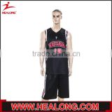 sublimation printing team named mesh basketball uniform black