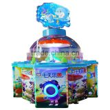 2106 Sinoarcade Nice Dedicated Gumball Claw Machine Game Amusement Park 4 Players Coin Operated Simulation Game Machine for Kids