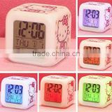 Hello Kitty LED 7 Color Electronic Color Change Digital Alarm Clock