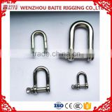 Stainless steel 316/304 straight D shackle European type China supplier