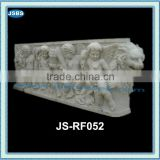 outdoor wall decorative stone cherub relief sculpture