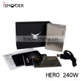 2016 Athena Hero 240W Temp control box Mod vs Snowwolf 200w ecig mods High end e cig device