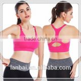 2015 HOT SALE GIRL SEXY NYLON COTTON SPANDEX YUGA SPORT BREATHABLE SEAMLESS VEST CORSET BRA