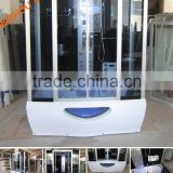 "47"" Square Steam Shower Room with Hydro Massage Jets and Audio 5-Year Warranty BLS-W1057"