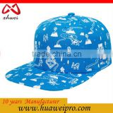 Wholesale Blank Hats Flat 6 Panel Caps Customise Embroidery Flat Snapback Cap