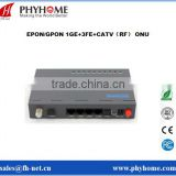 GPON 4GE with RF CATV ONT ONU Compatible with Huawei MA5608T ZTE C300 OLT                                                                         Quality Choice