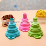 Large Foldable silicone rubber funnel,silicone kitchen funnel