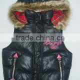 2011 Latest fashion black vest girls