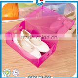Foldable empty custom wholesale clear plastic shoe box                                                                                                         Supplier's Choice