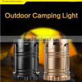 6 LED DC charging solar tent light, Li-ion battery solar light, rechargeable solar camping light