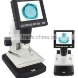 "LCD-1000X zoom Digital Microscope with 3.5"" LCD screen for PCB inspection, LCD screen stereo microscope"