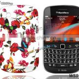 Flower Skin Case TPU Silicon Back Cover for BlackBerry Bold 9930 9900