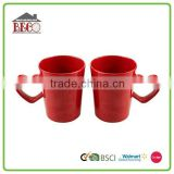 Wholesale red heart handle couples mug plastic cup holder
