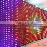 p10 3m*8m Concert backdrops foldable led video cloth/led fabric vision curtains with DMX&SD&PC Control