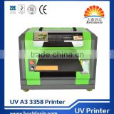 A3 UV ds3358 r2000 printerhead 8 colors CMYKWWWW 3d embossed relief golf ball print machine , pen printer, plastic printer