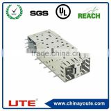 SFP transceiver 2*1/2*4/2*6 ports 0.25mm thickness sfp cage connector