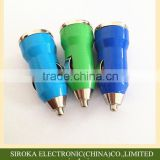 Brand new 5V 2A Dual USB mini car charger USB in car charger for iPad,iPhone,iPod