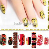 5Sheets Water Transfer Nail Stickers Flowers Leopard Designs Nail Tips Wraps DIY Nail Decals