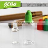 15ml 30ml round clear transparent empty PET e liquid plastic bottle with child resistant cap