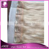 Virgin Malaysian human hair weaving #613 Clip in hair extensions for african american remy Malaysian hair extension with clips