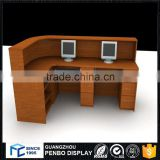 Hot selling wood convenience store checkout counter for sale                                                                                         Most Popular