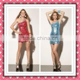 2012 New Arrival Stylish Gorgeous Sheath One-shoulder Sequins Beaded Embellished Red Cocktail Dress MLC-128