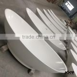 china modern freestanding artificial white marble stone bath