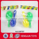 promotional gift items toys plastic sand hammer with three color for children's toys