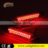 12V 7W Red led bumper light car rear brake bumper with reflector led tail light back rear lamp for 2012 Kia K2 sedan tail lights