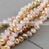 New List Electroplated Imitation Opal Glass Bead Strands Rondelle(EGLA-R035-8mm-20)