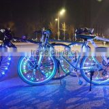 DIHAO rechargeable bicycle led light,led bicycle bike light , led bicycle wheel spoke string light