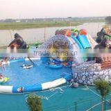 0.55mm PVC Tarpaulin Floating Outdoor Inflatable Water Parks,inflatable aqua water park