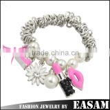 Easam Top Selling Floating Locket Stretch Beaded Charm Bracelet