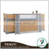 Modern Melamine office front office desk design,office furniture front desk,wood front desk design