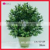 cheap price boxwood landscaping artificial grass wreaths with small white flower export from china