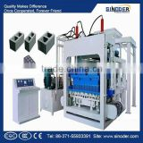 Sinoder Brand QT Concrete Hollow Brick Making Machine, Paver Block Machine, Cement Block Making Machine