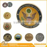 Best quality cheap custom antique replica gold metal souvenir coin custom enamel challenge gold coin