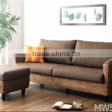 Water hyacinth products Living room sofa set furniture (Acasia wood frame, hand woven by wicker,hyacinth)