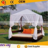 Garden popular cheap patio wicker bed rattan outdoor daybed with canopy                                                                         Quality Choice