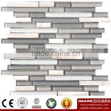 IMARK Mixed Color Crystal Glass Mosaic Tiles Mix Marble Mosaic Tiles for Wall Decoration Code IXGM8-106