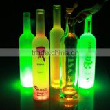 Fashion design LED light bottle wine glass bottle liquid bottle used in amusement park or garden in he evening