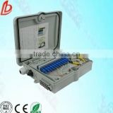12 core/8 core FTTH metal/plastic outdoor fiber optic distribution box/optical terminal box