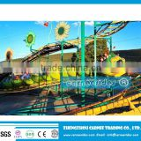 Hot sale !amusement park ride caterpillar slides /caterpillar train/ worm roller coaster for sale